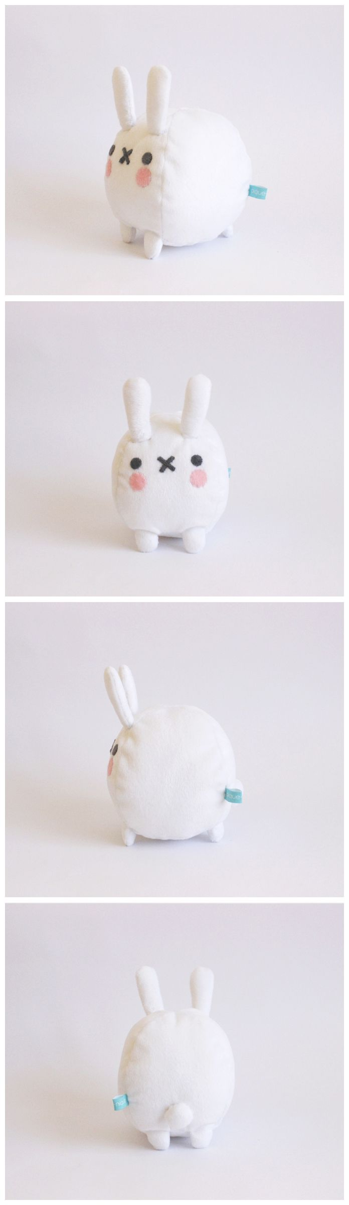 """Hehehe~ The little """"x"""" mouth always makes it look like the bunny has eaten something sour!"""