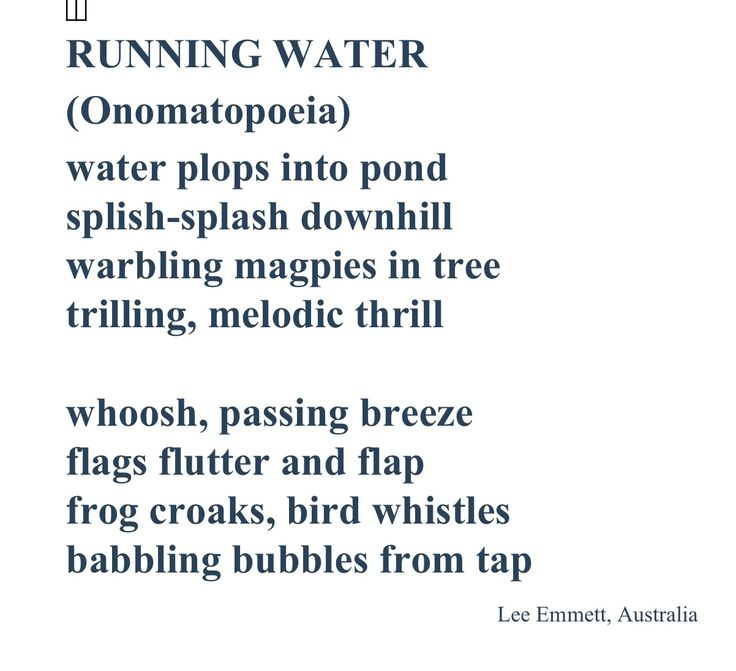 Great Poem For Onomatopoeia Grammar Grammar Pinterest