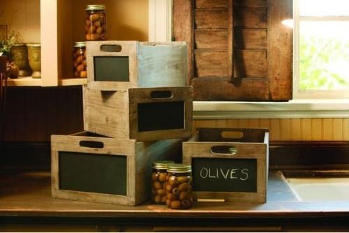 Rustic Wood Chalkboard Wine Crate - Etsy