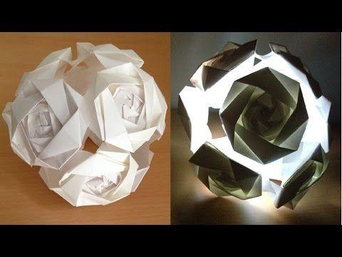 ハート 折り紙:折り紙 花のくす玉-jp.pinterest.com
