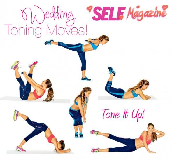 Tone It Up! Blog - Wedding Toning Moves with SELF Magazine