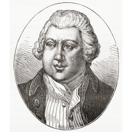Sir Richard Arkwright 1732 - 1792 English Inventor And Pioneer Of The Spinning Industry From Our Own Country Published 1898 Canvas Art - Ken Welsh Design Pics (13 x 15)