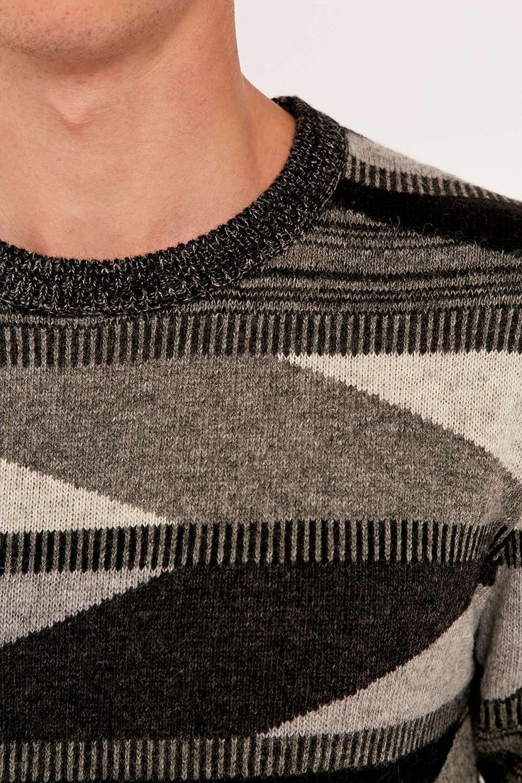 Selected Homme Triangle Crew Knit Jumper