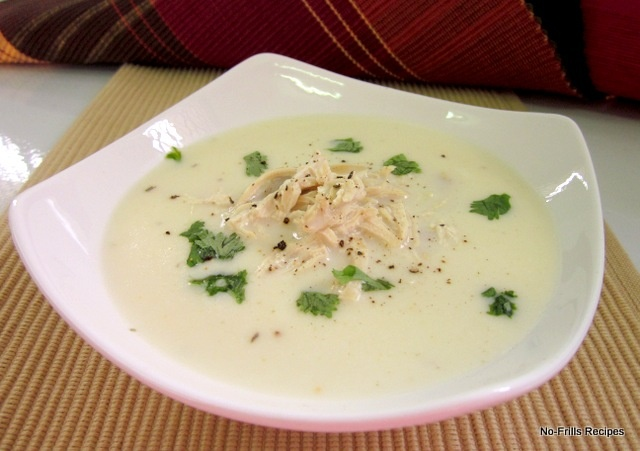 No-Frills Recipes: Creamy Chicken Soup