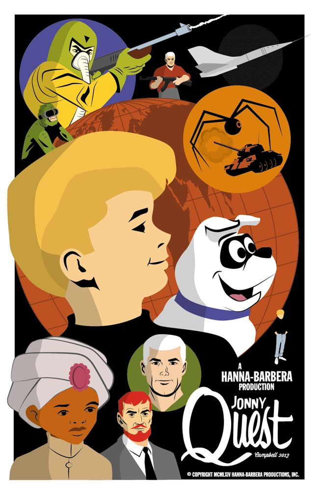 Jonny Quest.  One of my favorites as they actually had exciting stories!