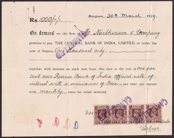 R1000 Rangoon 1939 Bill of Exchange - Negotiable instrument - Wikipedia, the free encyclopedia