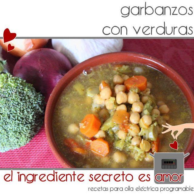 Receta de garbanzos con verduras en olla GM