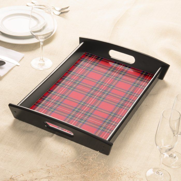 Royal Stewart Tartan Red Black Plaid Serving Tray Zazzle Com Royal Stewart Tartan Serving Tray Red And Black Plaid