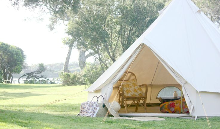 One of our beautiful 4m bell tents, ideal for couples!  Happy Glamper | Mornington Peninsula