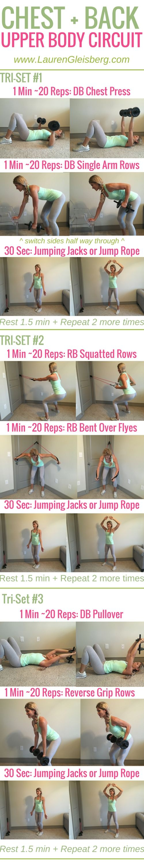 Week 2 Day 5   Home Version   Chest + Back Upper Body Circuit   #LGFitmas Lauren Gleisberg