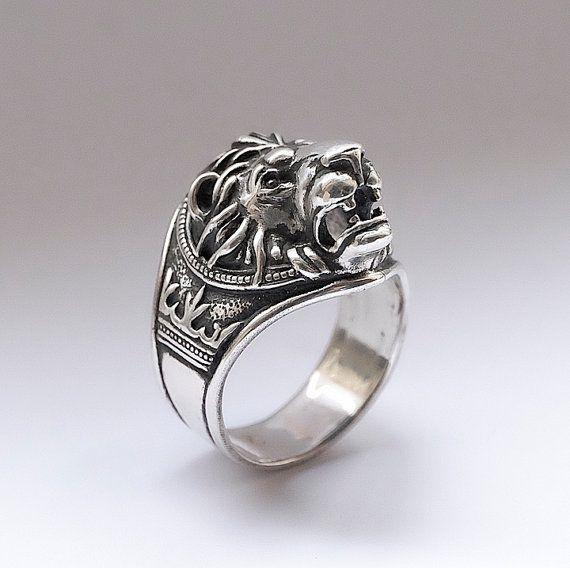 Anillo cabeza de León anillo del León para por yurikhromchenko