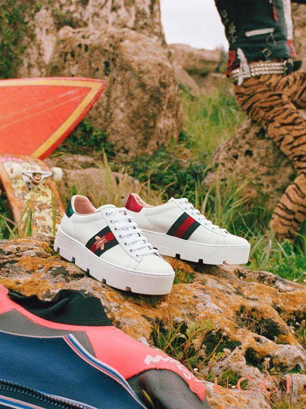 e14c40ca2 Women's Ace embroidered platform sneaker ในปี 2019 | gucci