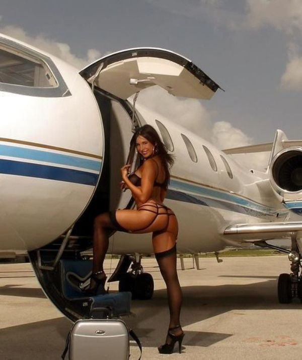 girls on airplanes Sexy nude