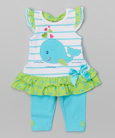 Love this Blue Dolphin Tunic & Leggings - Infant, Toddler & Girls on #zulily! #zulilyfinds