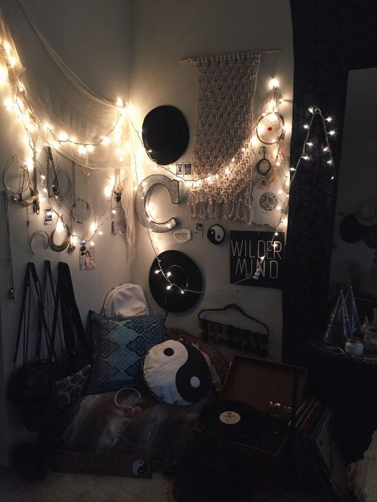 boho and edgy mix bedroom decor ideas