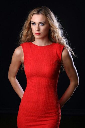 Lady In Red  Another shot of Aimee Boyle. Makeup by Louise McKenna  #model #beauty #eyes #red #reddress #studio #portrait #fashion