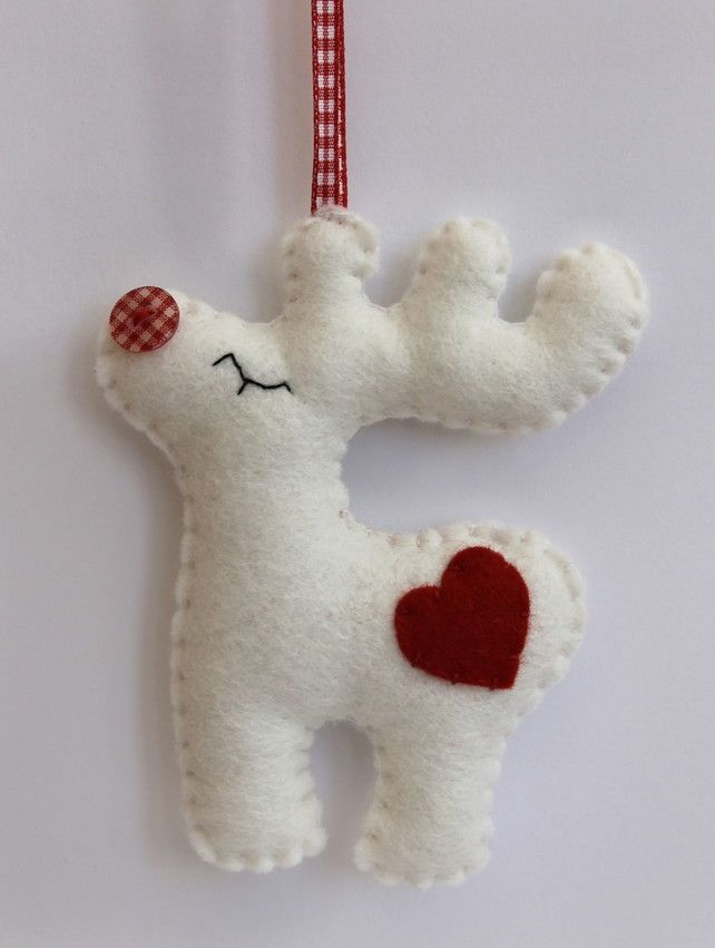 Christmas Rudolph - Felt Decoration - Folksy