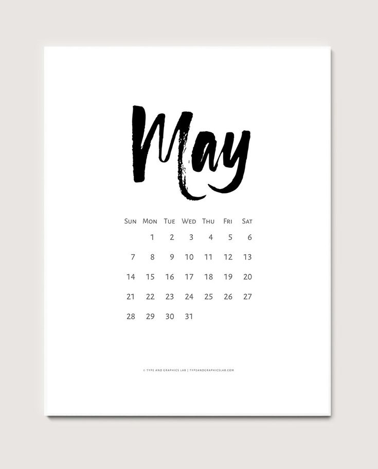 Download a free printable calendar for May 2017   © typeandgraphicslab.com   For personal use only