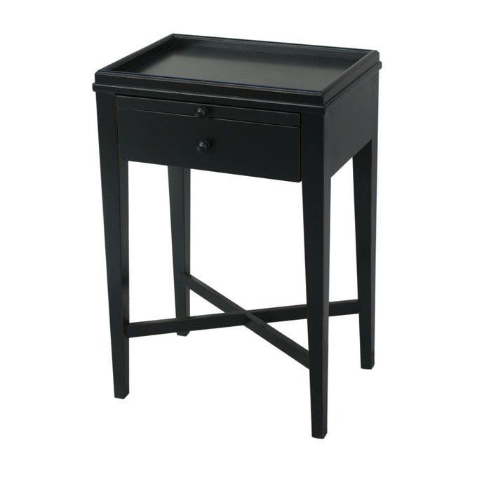 Vavoom Emporium -  French Farmhouse Black Side Table, $432.00 (http://www.vavoom.com.au/french-farmhouse-black-side-table/)
