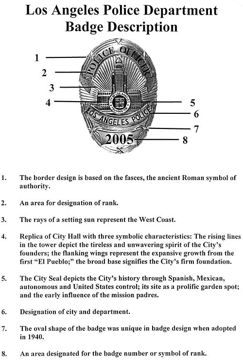 LAPD badge explanation