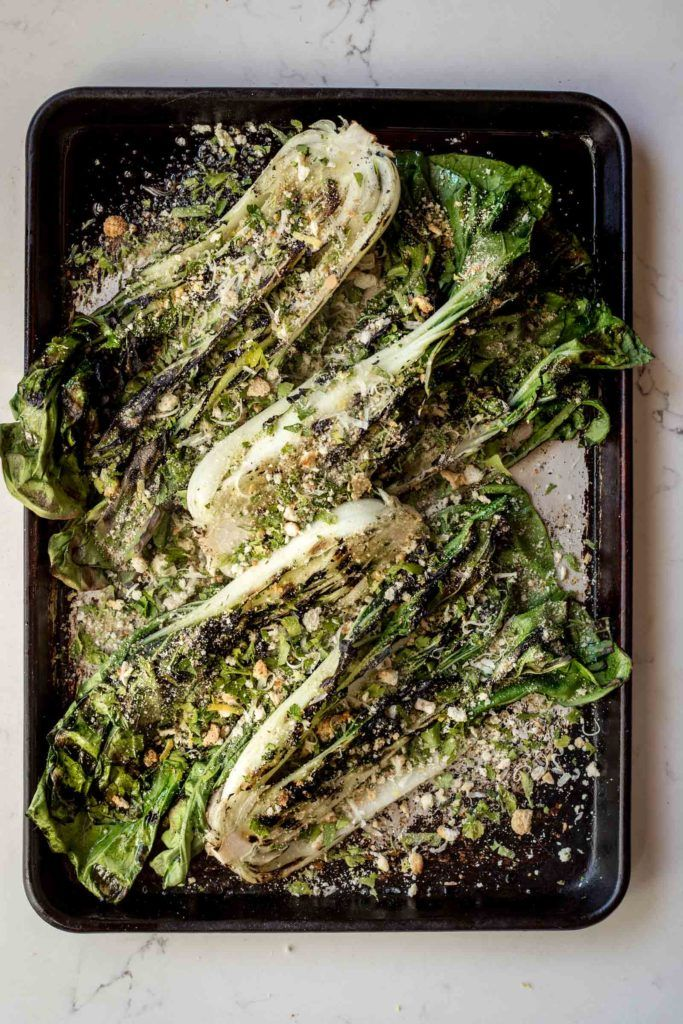 This recipe is reason enough to head to your local farmers market this week to pick up a beautiful head of bok choy. When the weather heats up we love firing up the grill and cooking our vegetables si