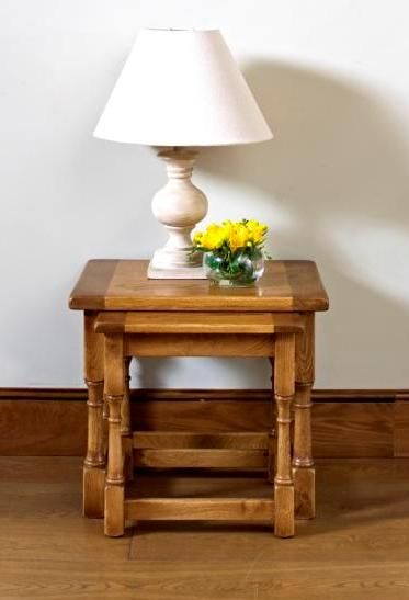 Exceptional Chatsworth Small Nest Of Tables (model Stately Oak Occasional Nest Of Two  Stacking Tables For Your Living Room From Wood Bros (Furniture) Ltd.