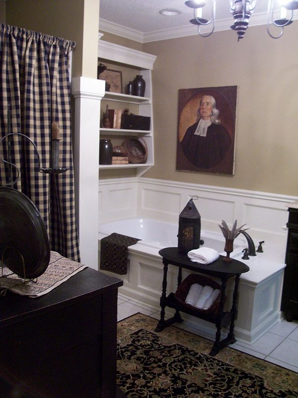 15 must see colonial decorating pins colonial primitive for Colonial bathroom ideas