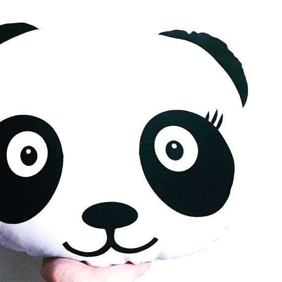 Panda pillow by thetickledpinkfox on Etsy