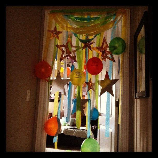 When your child opens their bedroom door on their birthday... WOW, what a surprise!: Happy Birthday, Child Open, Bedrooms Doors, Parties Ideas, Birthday Morning, Birthday Ideas, Birthday Doors, Surprise Ideas, Birthday Surprise