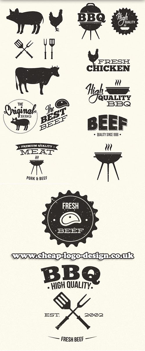 steakhouse logo ideas www.cheap-logo-design.co.uk #bbq #steakhouselogo #beef
