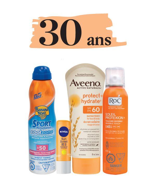 Choisir sa crème solaire à 30 ans