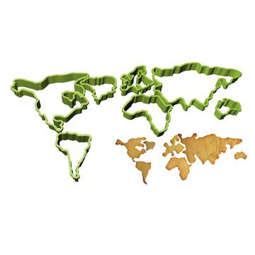 Feed The World Cookie Cutters, £12.20, now featured on Fab.