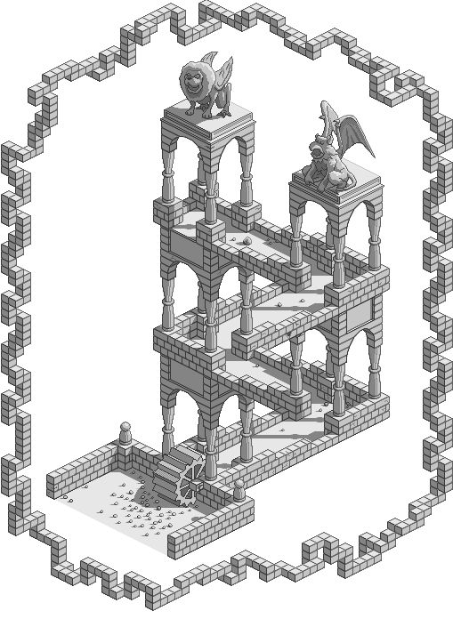 Isometric Escher Waterfall