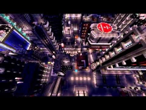 Minecraft, Blade Runner Atmosphere Cityscape