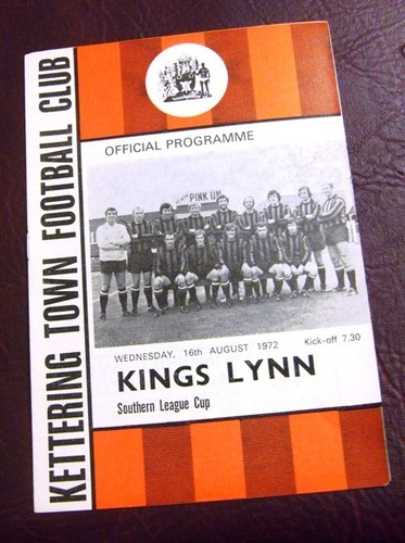 Away to Kettering Town   16/08/1972  Southern League Cup