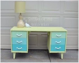 Anthropologie Inspired Desk DIY from Sisters of the Wild West