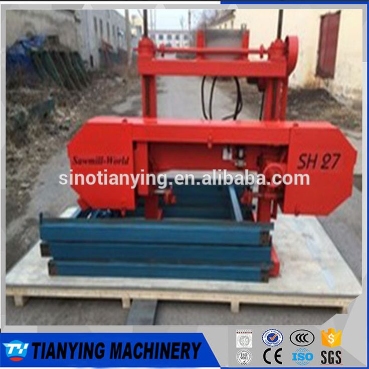 2017 High Quality Petrol Engine Portable Horizontal Band Sawmill For Hot Sale