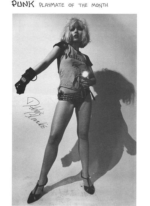 Debbie Harry pinup by Chris Stein, Punk Magazine # 4, 1976. S)