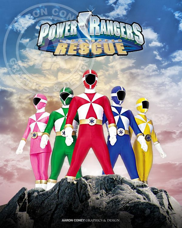 8 x 10 glossy print of the legendary Power Rangers Lightspeed Rescue, in honor of the 20th anniversary Power Rangers Super Megaforce, and the legendary war.