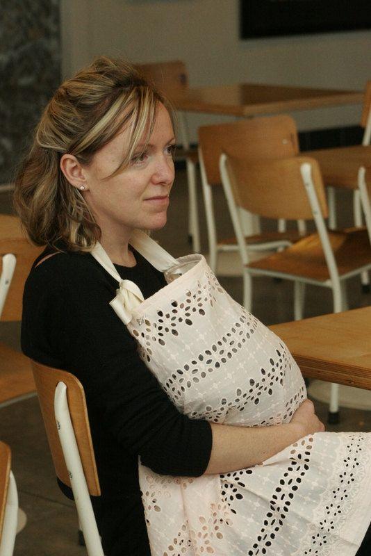 Breathable, Stylish, Breast Feeding Cover in Pale Pink & Cream. Private, Comfortable, Unique Nursing Apron for Newborns