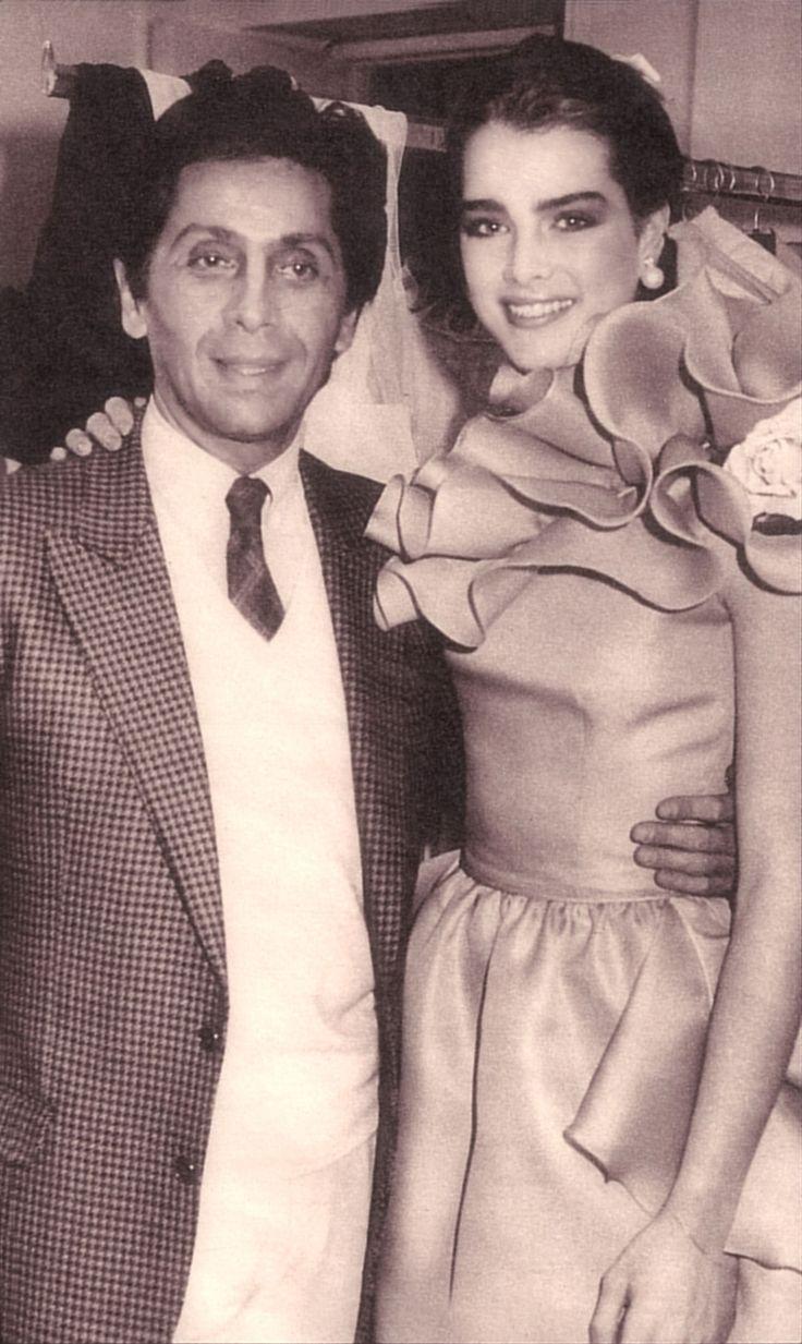 Valentino with Brooke, 1981