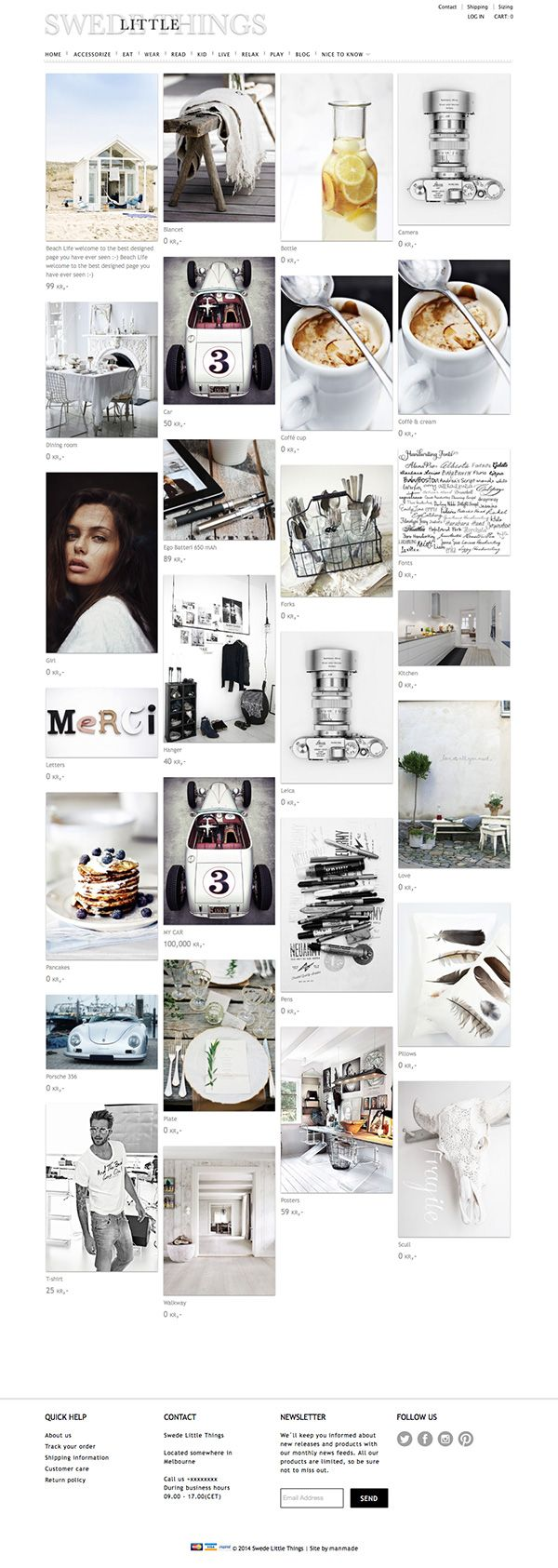 #Pinterest designed webshop for the #shopify.com webshop platform. Do you want a #pinterest designed #webshop? Read more and contact info at http://manmade-shop.myshopify.com/blogs/news, can be transformed to ordinary webpages as well.