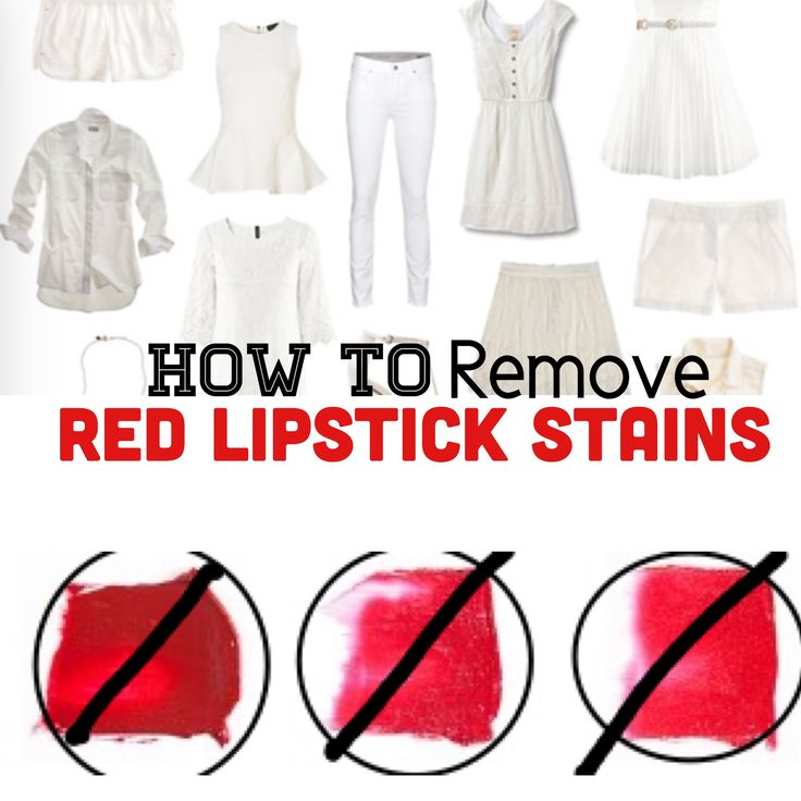 How to remove lipstick stains from clothing lipstick