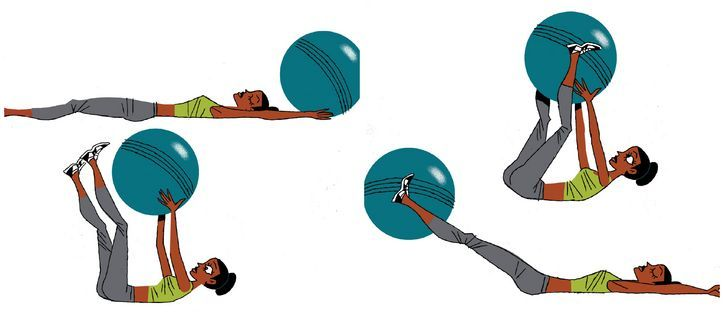 David Kirsch's stability ball hand offs (works abs)