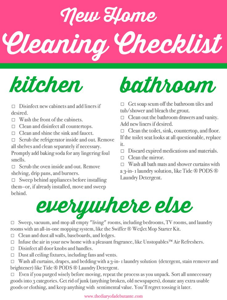 Best 25 moving cleaning checklist ideas on pinterest for Moving to a new home checklist
