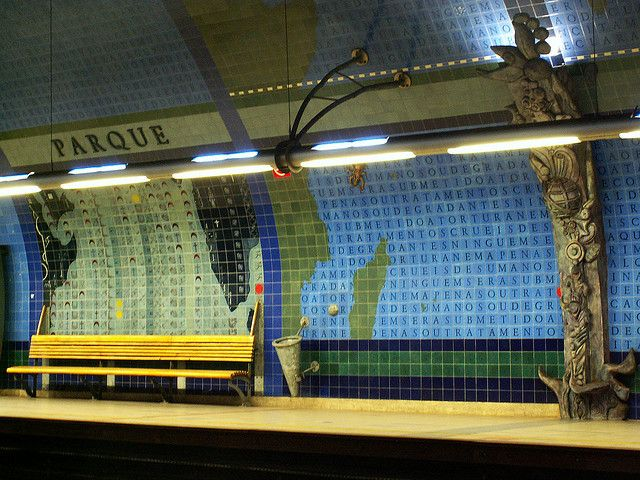 "Lisboa - metro station ""Parque"" by jaime.silva, via Flickr"