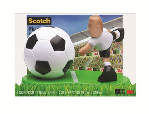Dispensador de Cinta Magica Scotch® Futbolista