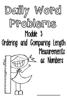 This FREE booklet contains all 13 application problems from Module 3 of A Story of Units (aka Engage NY, Eureka Math) for First Grade: Ordering and Comparing Lengths Measurements as Numbers.  It is in booklet form and has two problems per booklet half page.