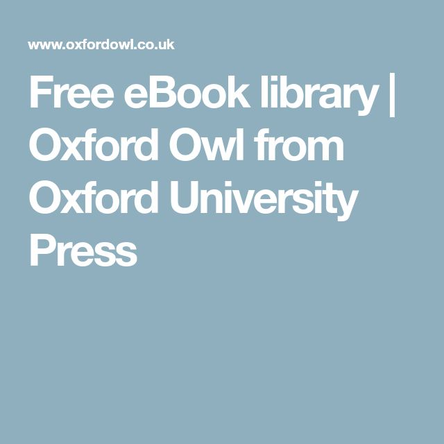Free eBook library   Oxford Owl from Oxford University Press