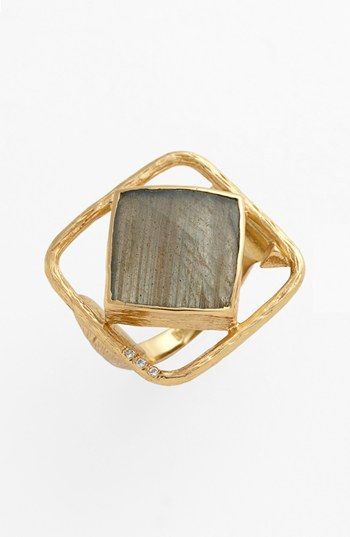 Melinda Maria 'Pyramid-Rosalind' Open Stone Ring